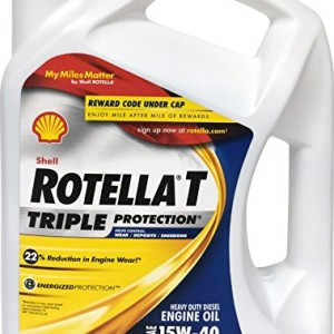 Shell rotella diesel and gasoline motor oil gallon 15 for Shell rotella heavy duty motor oil